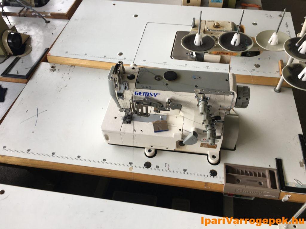 GEMSY 5 szálas díszfedőző varrógép